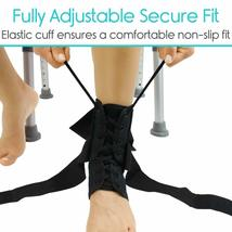 Vive Lace Up Ankle Brace - Foot Support - Size Medium (OPEN BOX NEW) USA----FL image 3