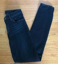 J Brand W27 L30 SIZE 26 Mid Rise Super Skinny Denim Jeans Eminence Dark ... - $9.87