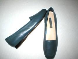 New Womens Enzo Angiolini Flats Leather 7N 7 N Narrow Dark Blue Shoes Lo... - $35.20