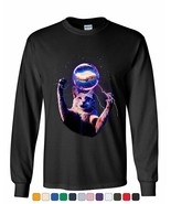 Cat Catching a Sandwich Long Sleeve T-Shirt Plasma Ball Kitty Kitten Weird Tee - $15.02 - $24.99