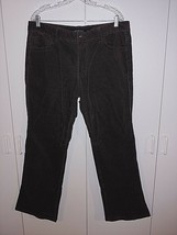 Calvin Klein J EAN S Ladies Brown Corduroy PANTS-16-GENTLY WORN-COTTON/ELASTANE - $7.99