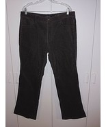 CALVIN KLEIN JEANS LADIES BROWN CORDUROY PANTS-16-GENTLY WORN-COTTON/ELA... - $7.99