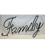 Black Metal Family Script Wall Hanger Home Décor  - $19.79