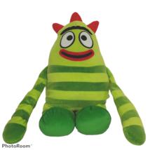 Yo Gabba Gabba Brobee Green Striped Monster Plush Nanco Stuffed Animal 2... - $39.60