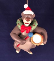 Grolier Disney Baloo First Issue Porcelain Ornament Jungle Book Rare Red... - $24.74