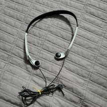 SONY MDR-W014 Lightweight Vertical In Ear Headphones Black White Orange Tested - $29.99