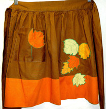 A16 AUTUMN LEAVES HOSTESS HALF APRON. One Size Fits All --NEW-- - $19.79