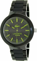 Brand New Lacoste 2010768 Borneo Black Stainless Steel Men's Watch - $133.64