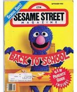ORIGINAL Vintage Sesame Street Magazine Sept 1985 Grover Back to School ... - $18.51