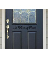 No Soliciting Please Door Sign Vinyl Sticker Decal  - $9.99+