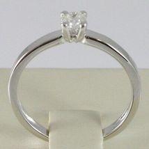 Anillo de Oro Blanco 750 18 CT,Solitario,Vástago Cuadrado,Diamante Quilates 0.27 image 4