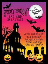 Spooky Hollow Bed and Breakfast Metal  Sign Halloween - $24.18