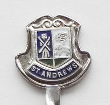 Collector Souvenir Spoon Scotland St Andrews Coat of Arms Cloisonne Emblem - $14.99