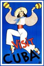 Visit Cuba 8 x 10 travel poster reprint - $6.49