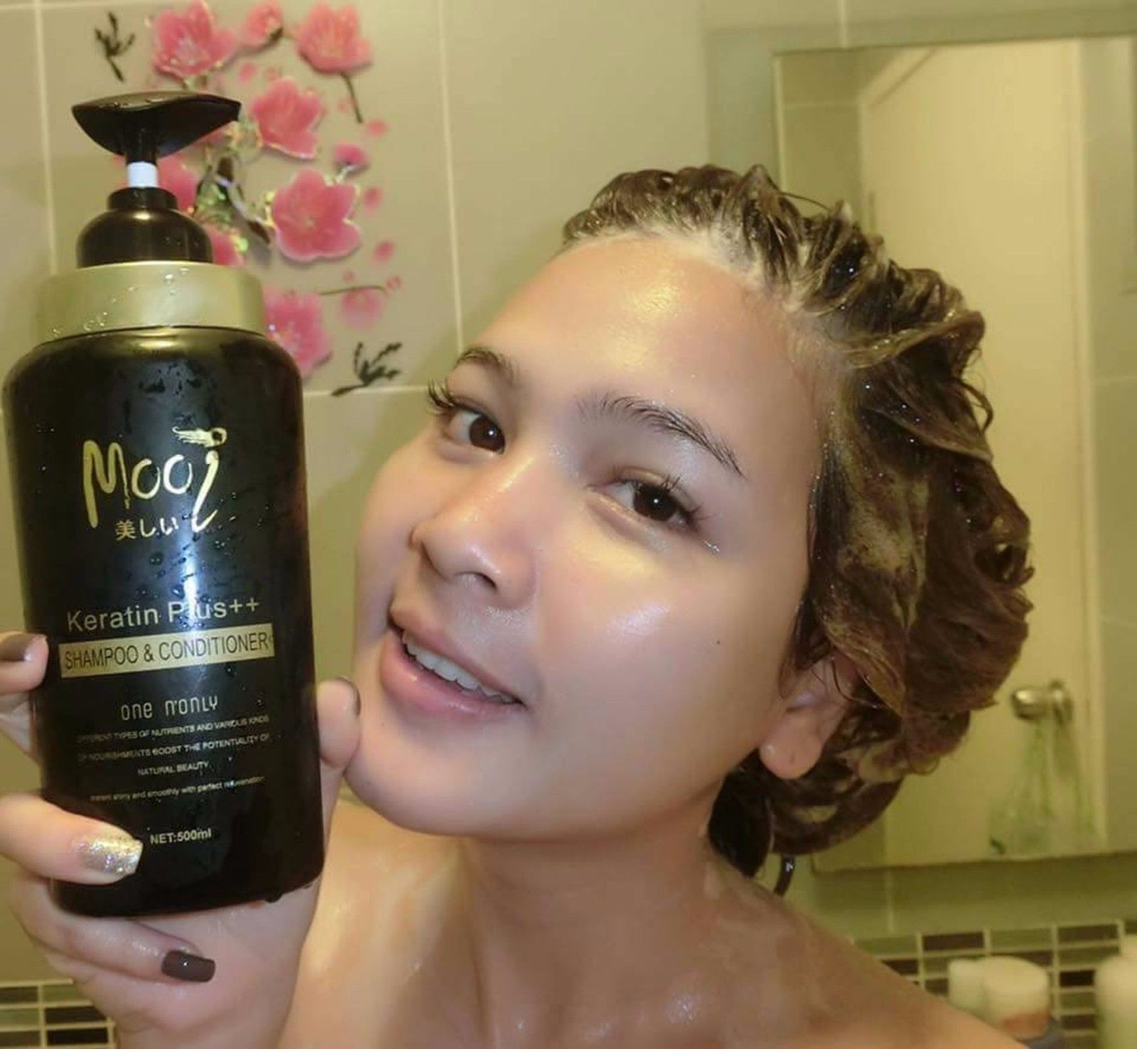 Mooi Keratin Plus++ Shampoo&Conditioner Hair Healthy Treatments 500ml.