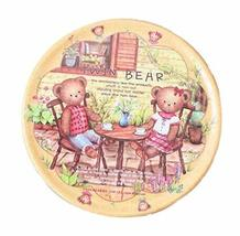 PANDA SUPERSTORE Set of 4 Lovely Cartoon Round Plastic Placemats (Twin Bear)