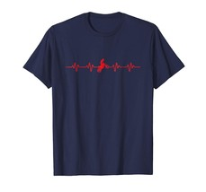 New Shirts - Dirt Bike Motocross Heartbeat T Shirt Biker Racing Gift Tee... - $19.95+