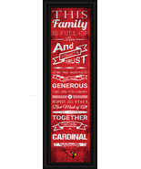 "Trinity Valley ""Cardinals""- 24 x 8 Family Cheer Framed Print - $39.95"