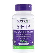 Natrol 5-HTP Mood & Stress Time Release 100 mg 45 Tablets - $11.83