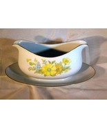 Ecko International Spring Bouquet Gravy Boat With Underplate - $14.54