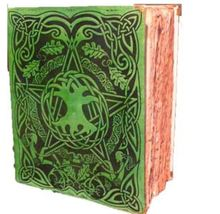 300 Red ancient Page Celtic Tree of Life Pentagram Spell green Book Top quality - $169.99