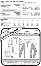 Men's Bicycle Racing Jersey Shirt #402 Sewing Pattern (Pattern Only) gp402 - $6.00