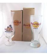 Hard Rock Cafe-Pilsner & Hurricane Glasses (2)~... - $14.00