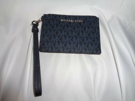 MICHAEL KORS JET SET TRAVEL COIN PURSE WRISTLET MINI WALLET ADMIRAL NAVY... - $39.60