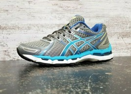 Womens Asics Gel Kayano 19 Running Shoes Sz 7.5 B Used Gray Blue Sneakers T350N - $33.57 CAD