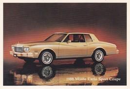 1980 ChevroletMonte Carlo SportCoupe, Dealer Promo Postcard - $9.99