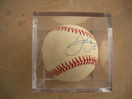 Chicago White Sox MLB Frank Thomas Autographed Ball Lucite Case Vtg '85 ... - $272.25
