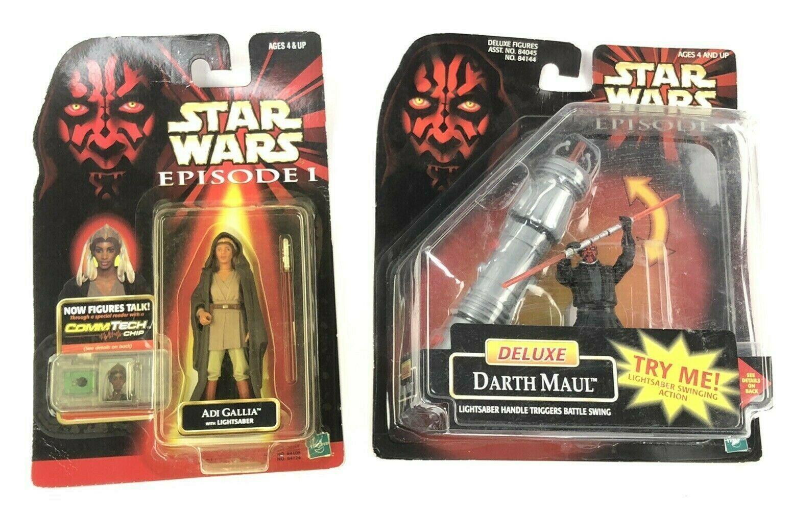 Hasbro Star Wars Episode 1 Darth Maul & Adi Gallia w/Lightsaber Action Figurines - $21.67