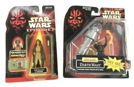 Hasbro Star Wars Episode 1 Darth Maul & Adi Gallia w/Lightsaber Action Figurines - $18.67