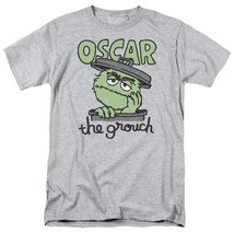 PBS Sesame Street Oscar the grouch Retro 60's 70's graphic gray t-shirt SST118 image 1