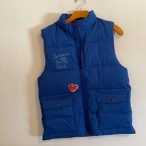 GAP KIDS BLUE PUFF VEST SUPERMAN SIZE XL - $25.74