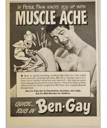 1949 Print Ad Ben-Gay Muscle Ache Rub Peter Pain Character - $11.86