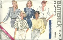 Butterick Sewing Pattern 5780 Misses Womens Blouse Shirt Size 14 16 18 New - $6.99