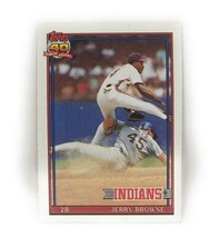 1991 Topps Baseball Card #76 - Jerry Browne - Cleveland Indians - 2B - $0.99