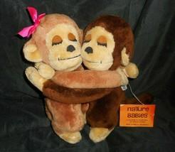 Vintage 1977 R Dakin Modellata Kissing Scimmia Peluche Peluche Giocattolo W/ Tag - $54.97