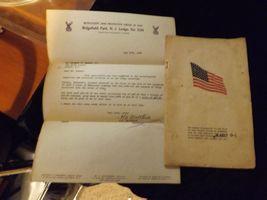 Vintage Order of Elks vest with pins, 1951/52 booklets flag and letter of accept image 4