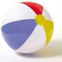 "Inflatable Beach Ball 51cm 20"" Toy Children Summer Glossy Panel Summer P... - £3.49 GBP"