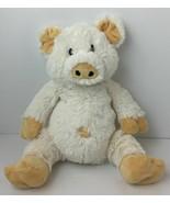 "Baby Aspen Cream White PIG Embroidered Eyes Plush Soft Toy Lovey 13"" - $9.85"