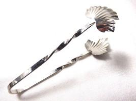 """VTG Rare Sterling Silver Raimond Leaf Sugar Tongs 3.5"""" 6.7g - $29.70"""