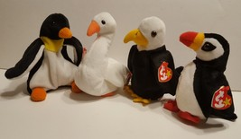 Ty Beanie Baby Toys Waddle 4075 Puffer Gracie 4126 Baldy 4074 Retired Lo... - $9.00