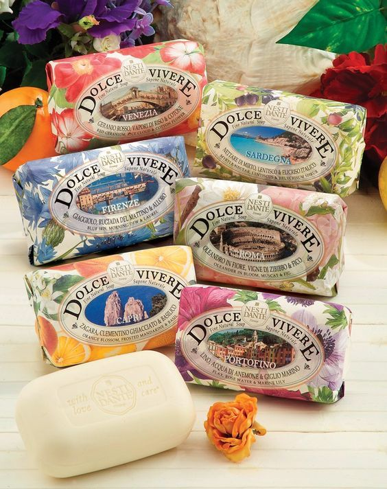 Dolce Vivere Soap Gift Set of 6 psc by Nesti Dante Made in Italy
