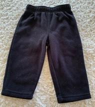 Childrens Place Boys Black Fleece Pants 12-18 Months - $5.00
