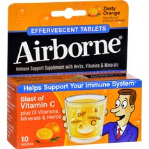 Airborne Effervescent Tablets with Vitamin C - Zesty Orange - 10 Tablets - $15.67