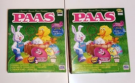 NEW Lot of 2 Paas Easter Egg Decorating Kits with 90 Stickers - £4.71 GBP