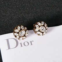 NEW AUTH Christian Dior 2019 DIO(R)EVOLUTION CRYSTAL TRIBALES EARRINGS AGED GOLD image 14