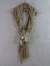 Collection 18 Women's Beige Champagne Floral Sequin Neck Wrap Scarf - $28.71